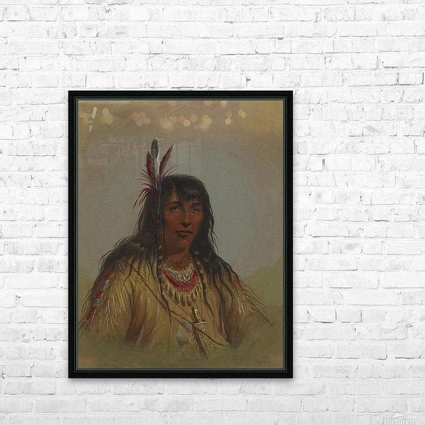 Bannock Indian HD Sublimation Metal print with Decorating Float Frame (BOX)