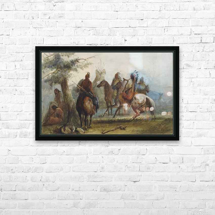 Sioux setting out on an expedition to capture wild horses HD Sublimation Metal print with Decorating Float Frame (BOX)