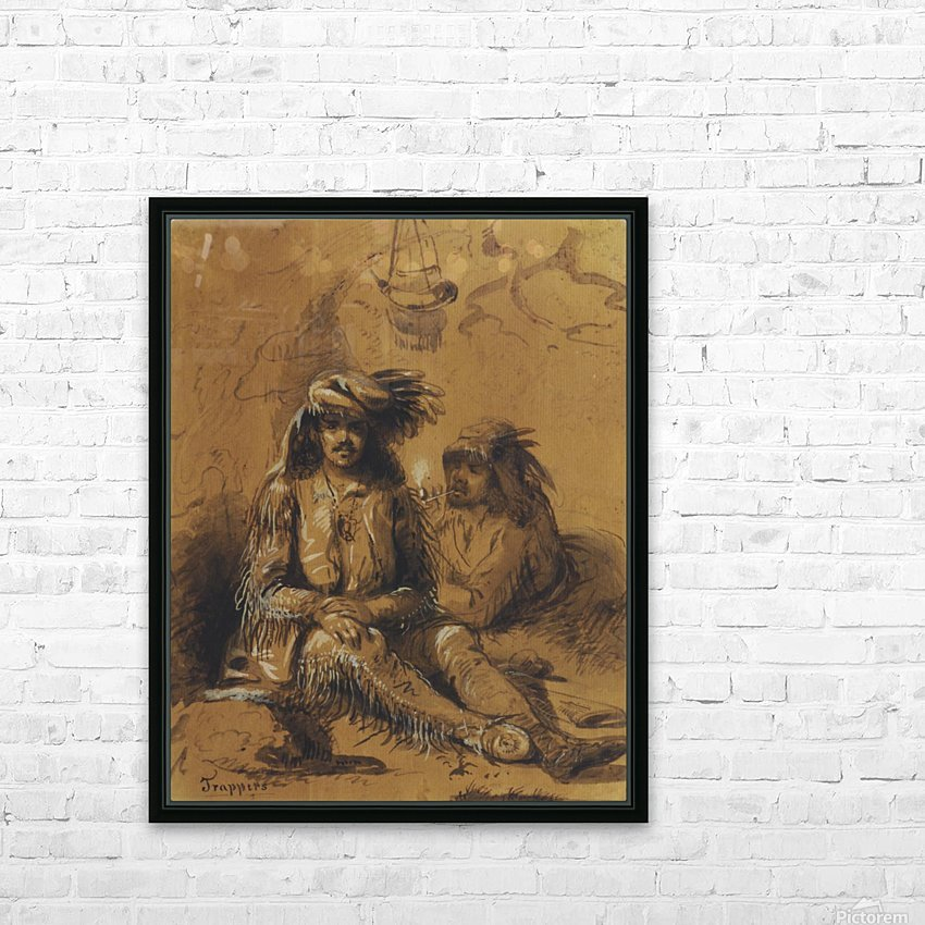 Trappers, Auguste and Louis HD Sublimation Metal print with Decorating Float Frame (BOX)