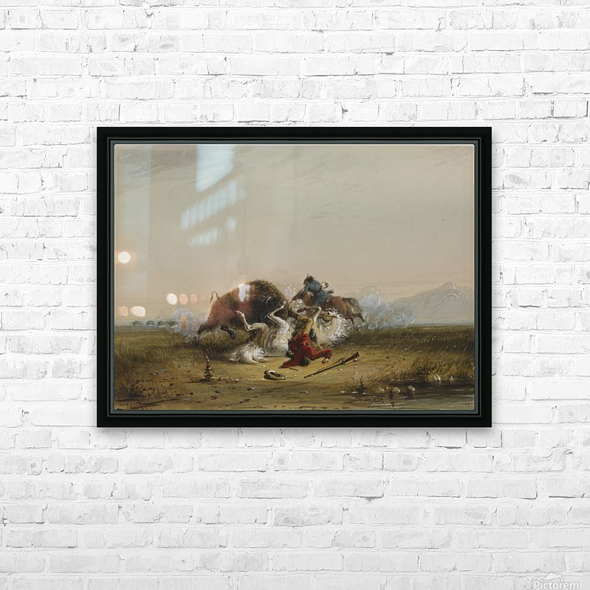 Pierre and the Buffalo HD Sublimation Metal print with Decorating Float Frame (BOX)