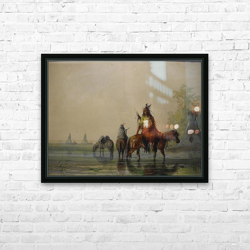 Outside an Indian village HD Sublimation Metal print with Decorating Float Frame (BOX)