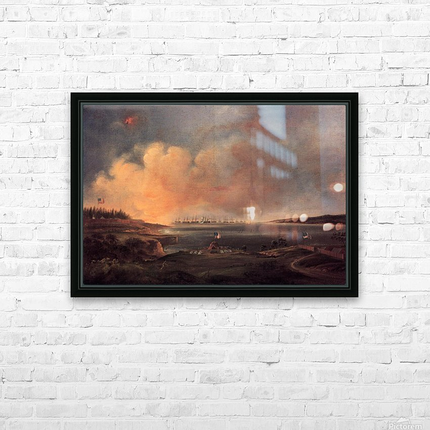 The Battle of Fort McHenry HD Sublimation Metal print with Decorating Float Frame (BOX)