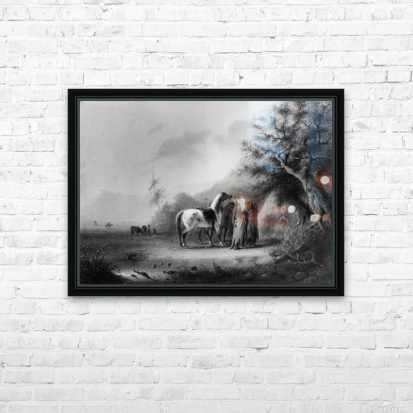 Sioux Indians in the mountains HD Sublimation Metal print with Decorating Float Frame (BOX)
