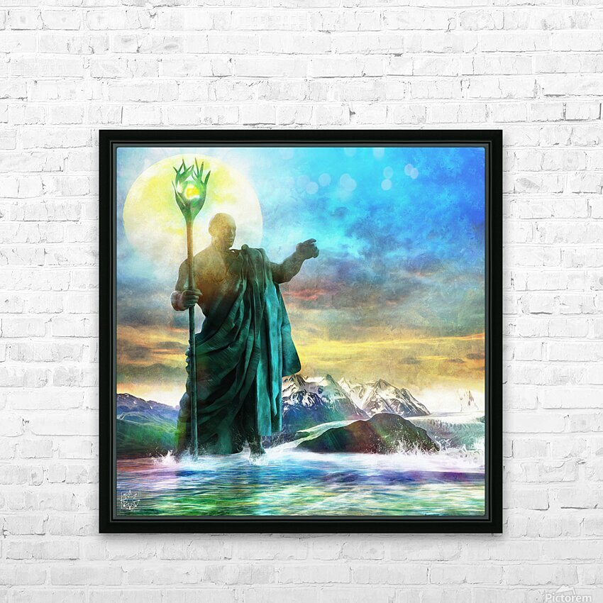The Benevolent Light HD Sublimation Metal print with Decorating Float Frame (BOX)