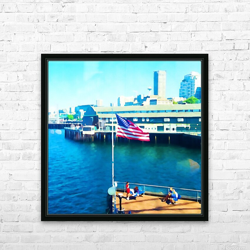 Seattle Morning HD Sublimation Metal print with Decorating Float Frame (BOX)
