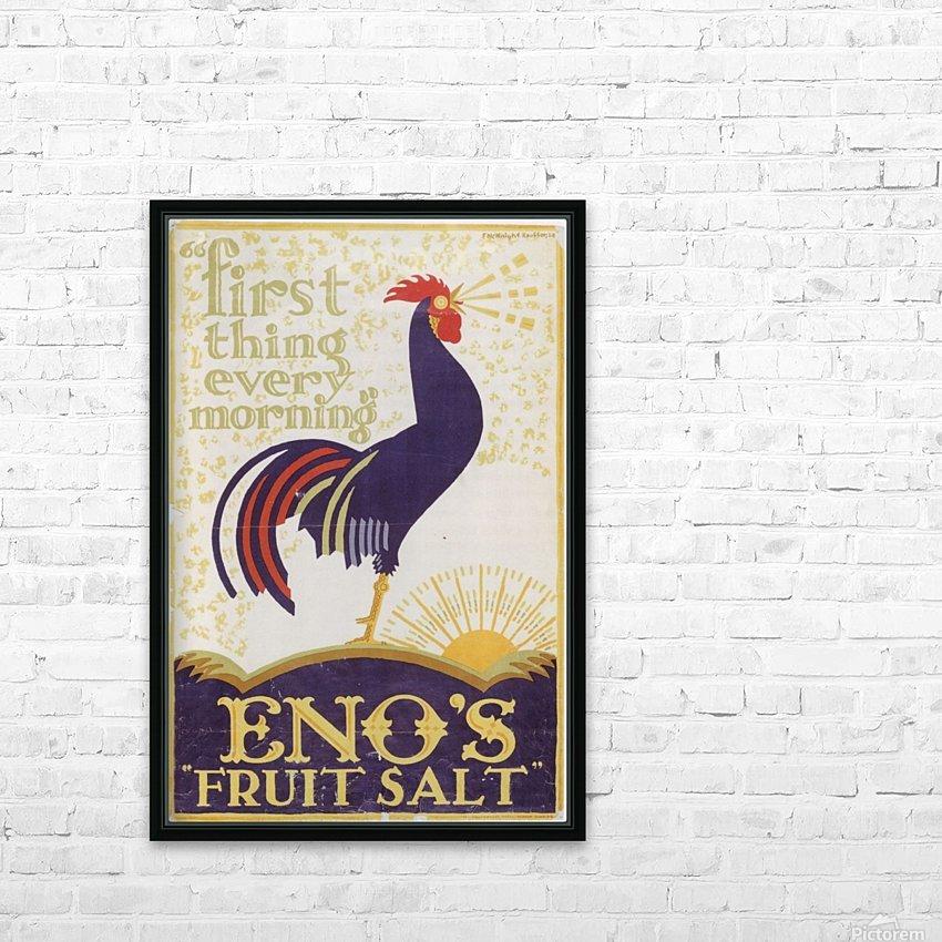 Enos fruit salt HD Sublimation Metal print with Decorating Float Frame (BOX)
