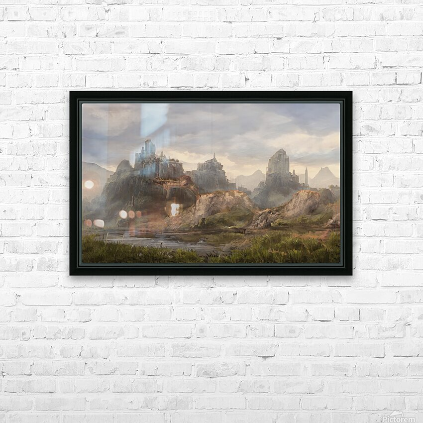 Ancient ruins HD Sublimation Metal print with Decorating Float Frame (BOX)