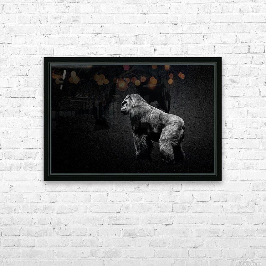 Silverback Gorilla Edit Edit HD Sublimation Metal print with Decorating Float Frame (BOX)