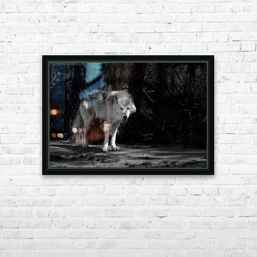 Wolf 1 HD Sublimation Metal print with Decorating Float Frame (BOX)