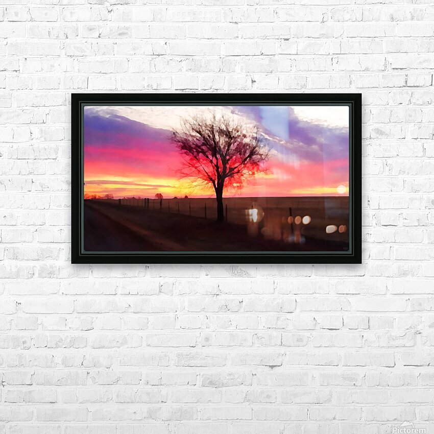 still morning HD Sublimation Metal print with Decorating Float Frame (BOX)