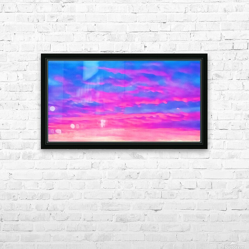 pink waves HD Sublimation Metal print with Decorating Float Frame (BOX)