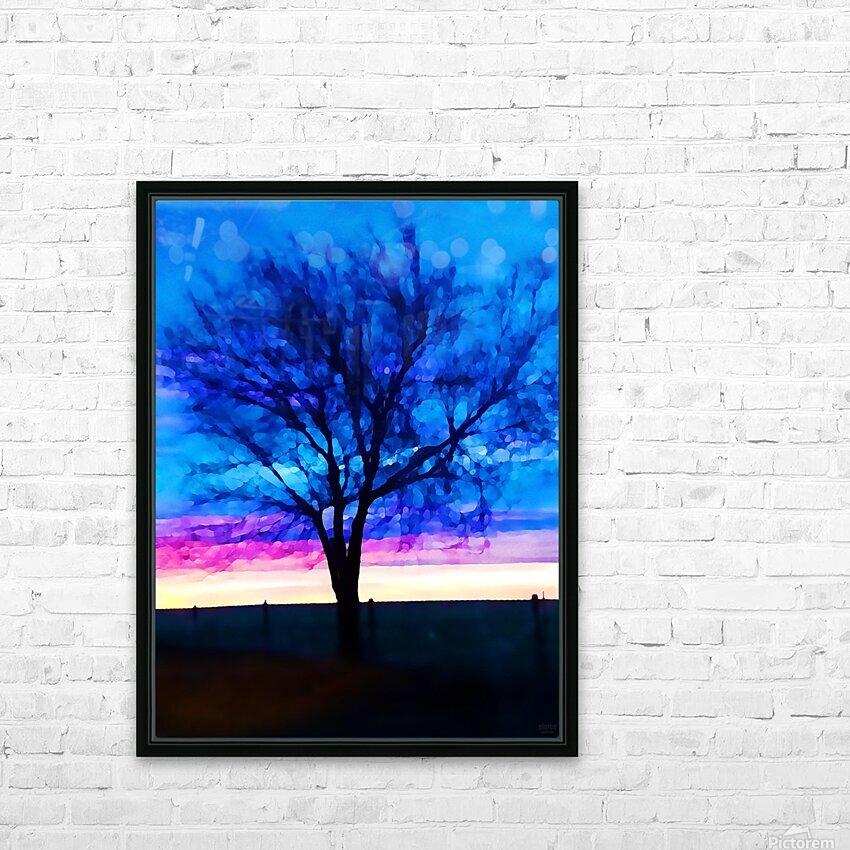 stillness HD Sublimation Metal print with Decorating Float Frame (BOX)
