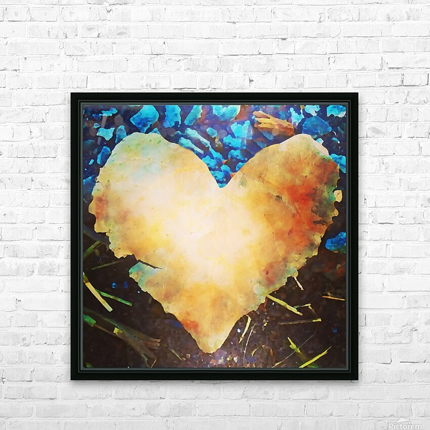 heart leaf HD Sublimation Metal print with Decorating Float Frame (BOX)