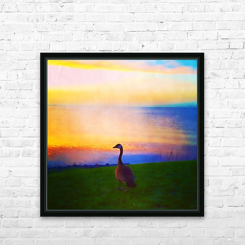 looking out HD Sublimation Metal print with Decorating Float Frame (BOX)