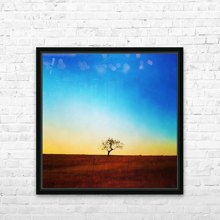solitude tree HD Sublimation Metal print with Decorating Float Frame (BOX)