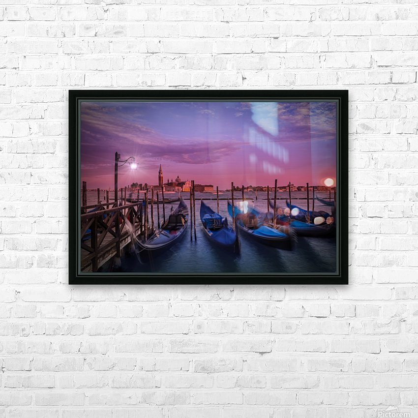 VENICE Gondolas at Sunset HD Sublimation Metal print with Decorating Float Frame (BOX)