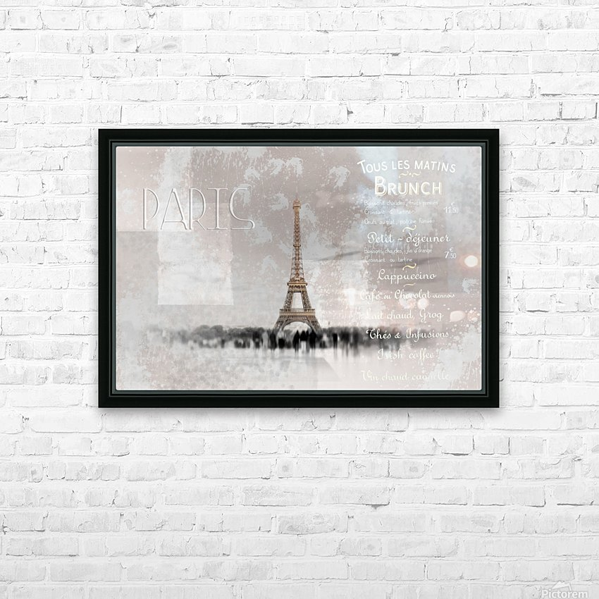 Digital-Art Eiffel Tower II HD Sublimation Metal print with Decorating Float Frame (BOX)