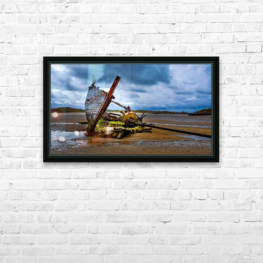 Bad Eddie 5 HD Sublimation Metal print with Decorating Float Frame (BOX)