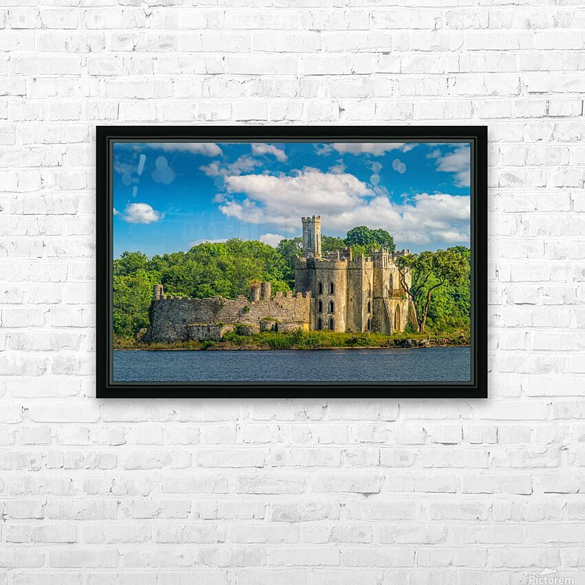 McDermott s Castle Ruins HD Sublimation Metal print with Decorating Float Frame (BOX)