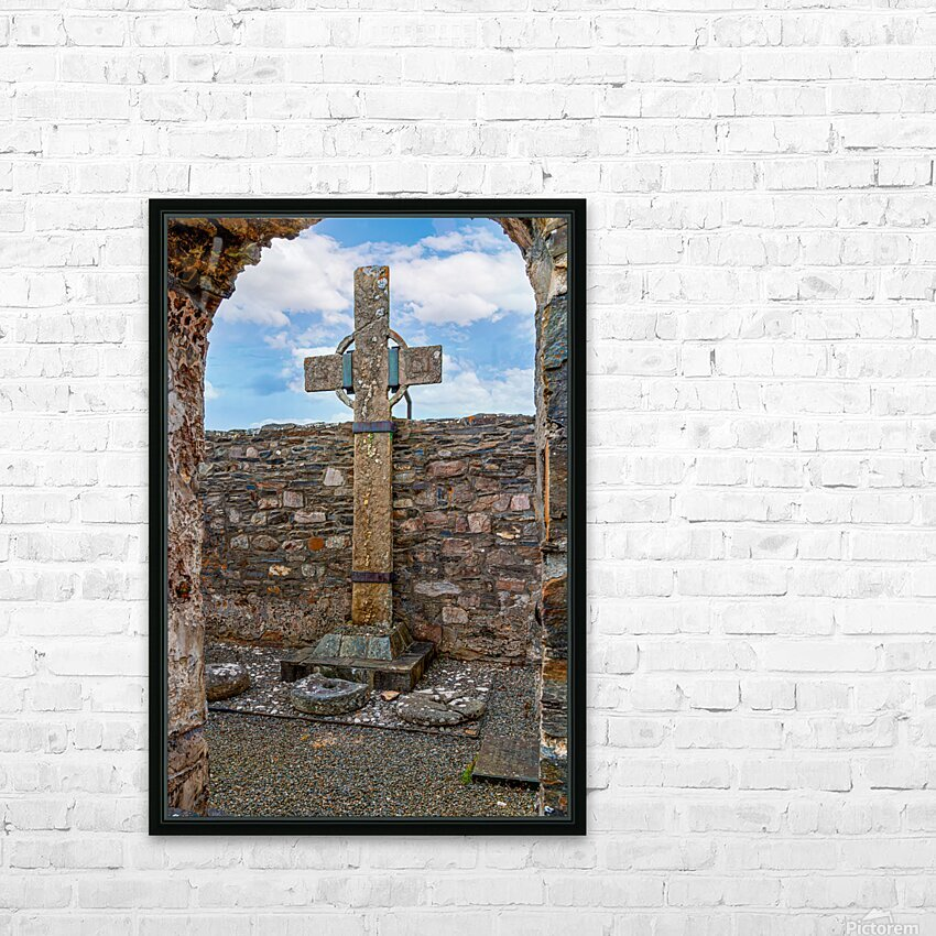 Colmcilles Cross HD Sublimation Metal print with Decorating Float Frame (BOX)