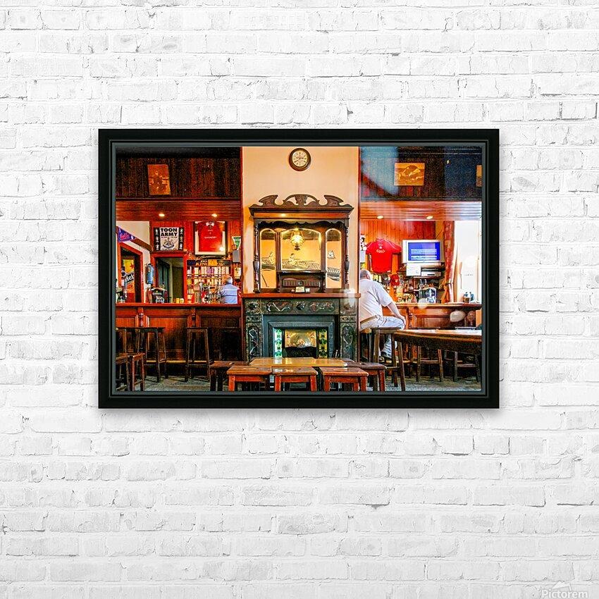 IRISH PUB 2 HD Sublimation Metal print with Decorating Float Frame (BOX)