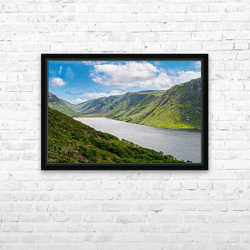 Lough Veagh HD Sublimation Metal print with Decorating Float Frame (BOX)