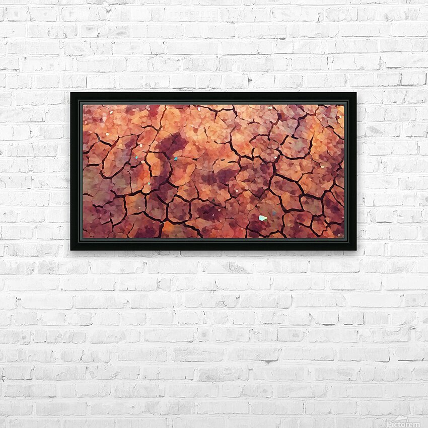 high end rocks art HD Sublimation Metal print with Decorating Float Frame (BOX)