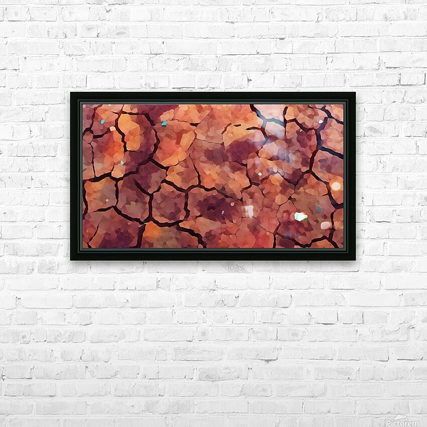 rocks art two HD Sublimation Metal print with Decorating Float Frame (BOX)