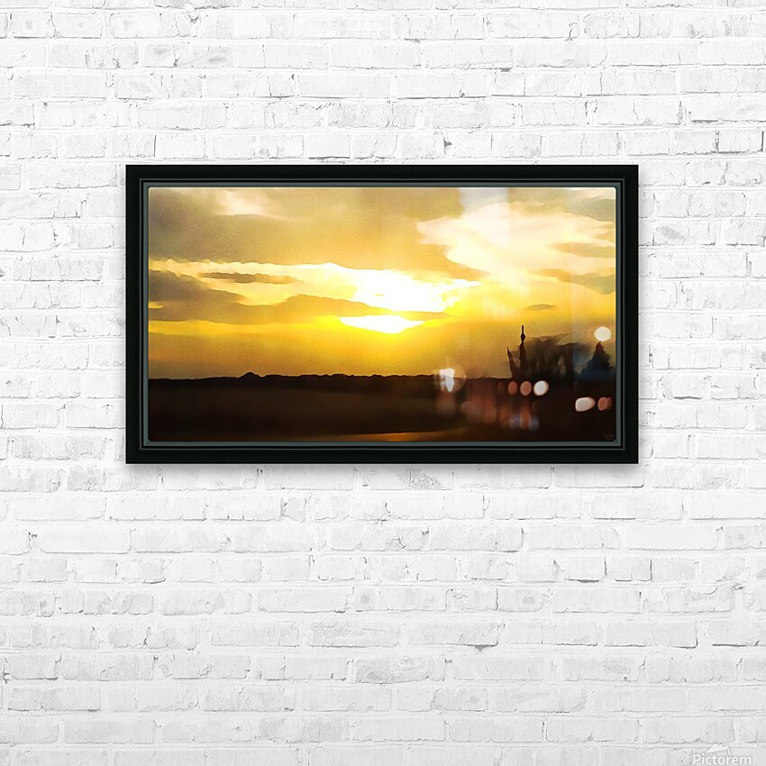 golden evening HD Sublimation Metal print with Decorating Float Frame (BOX)