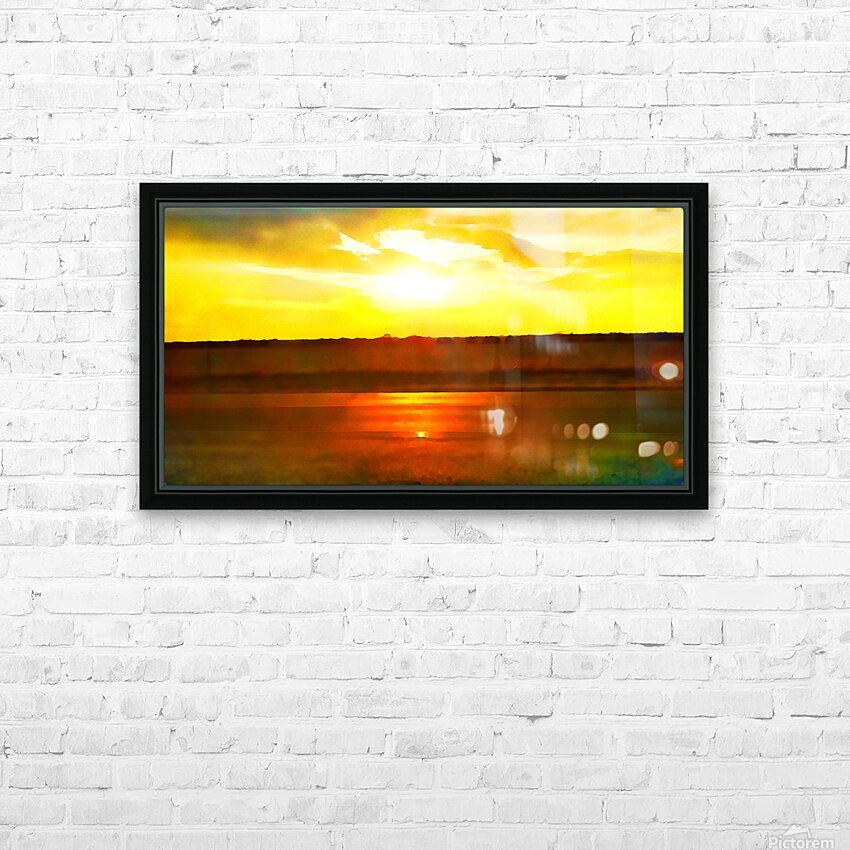 orange yellow HD Sublimation Metal print with Decorating Float Frame (BOX)