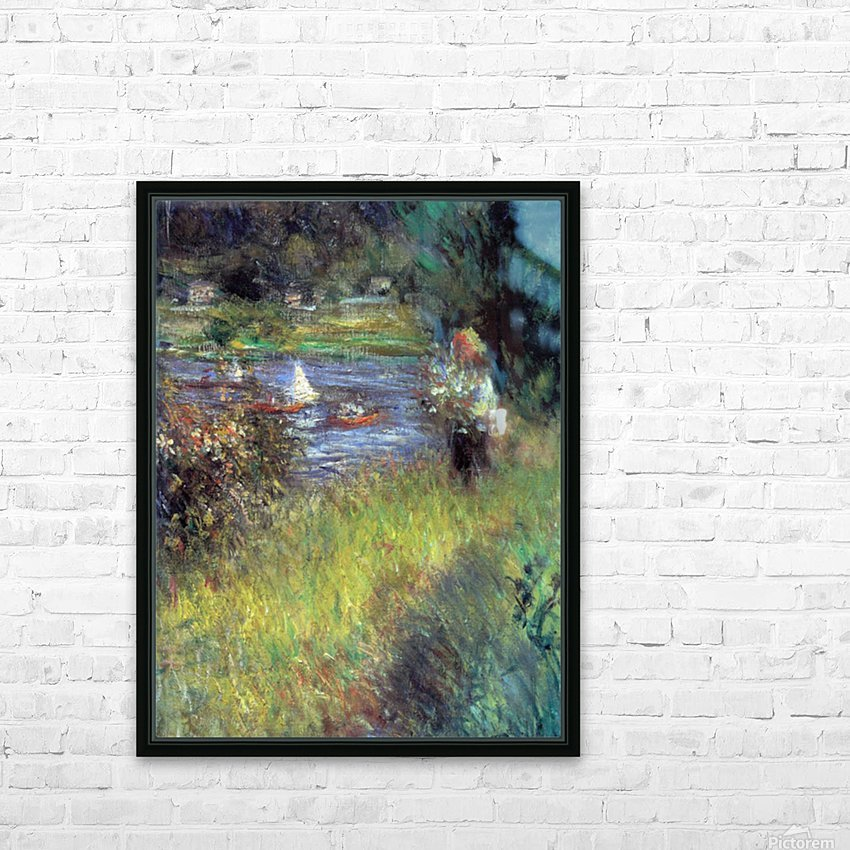 The Seine at Chatou (Detail) by Renoir HD Sublimation Metal print with Decorating Float Frame (BOX)