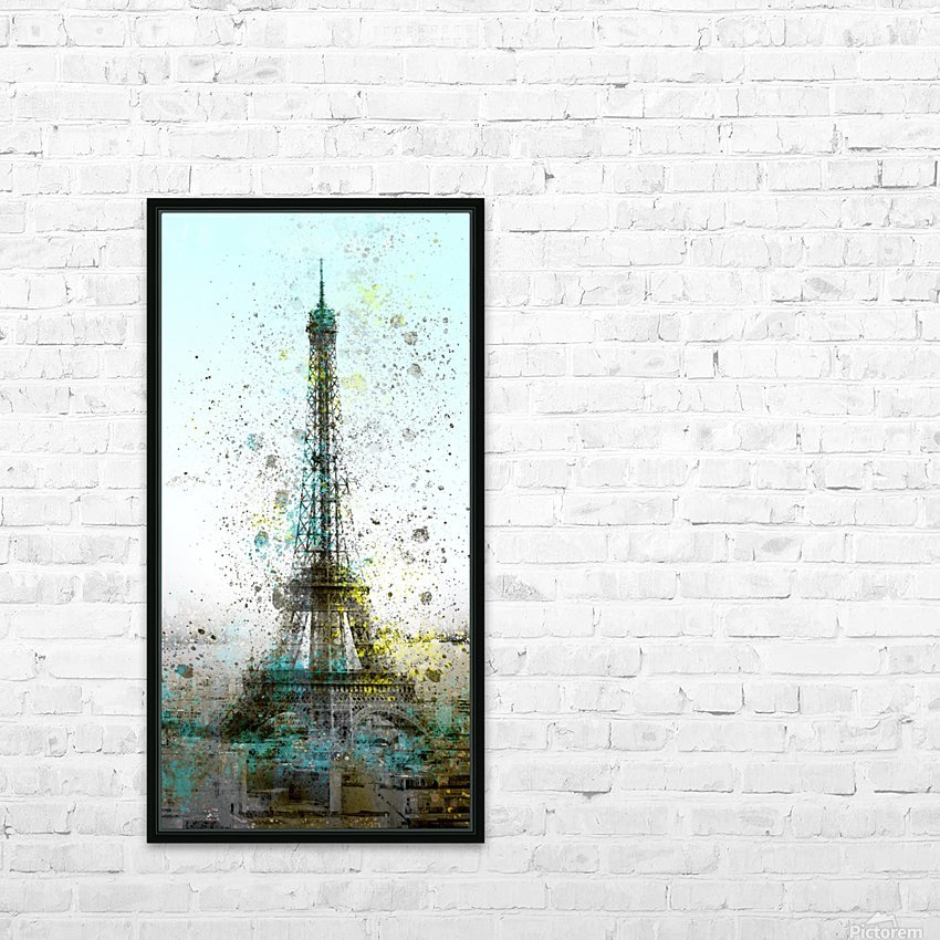 City-Art PARIS Eiffel Tower II HD Sublimation Metal print with Decorating Float Frame (BOX)