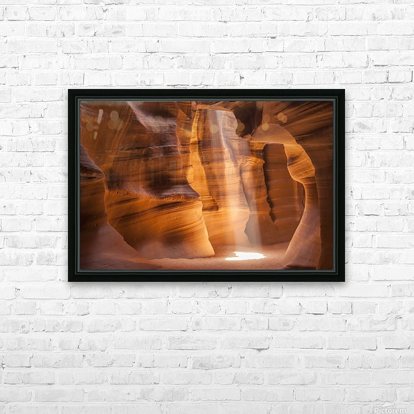 ANTELOPE CANYON Gorgeous Light Beam HD Sublimation Metal print with Decorating Float Frame (BOX)