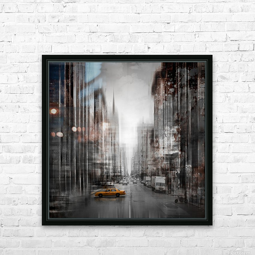 City-Art NYC 5th Avenue HD Sublimation Metal print with Decorating Float Frame (BOX)