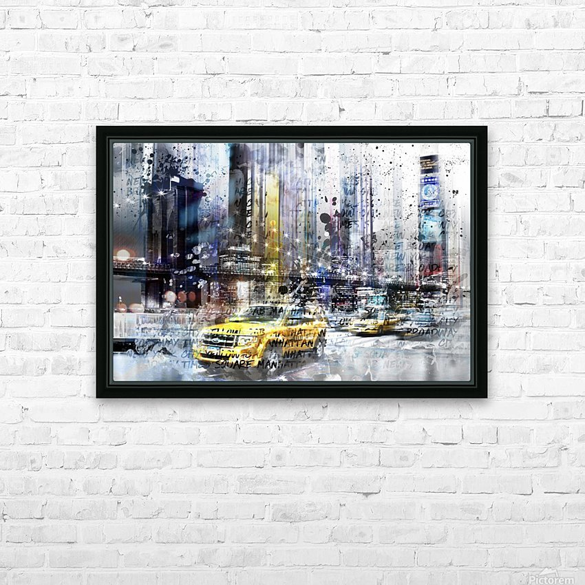 City-Art NYC Collage HD Sublimation Metal print with Decorating Float Frame (BOX)