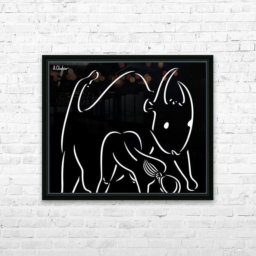 Pasiphae and the Bull HD Sublimation Metal print with Decorating Float Frame (BOX)