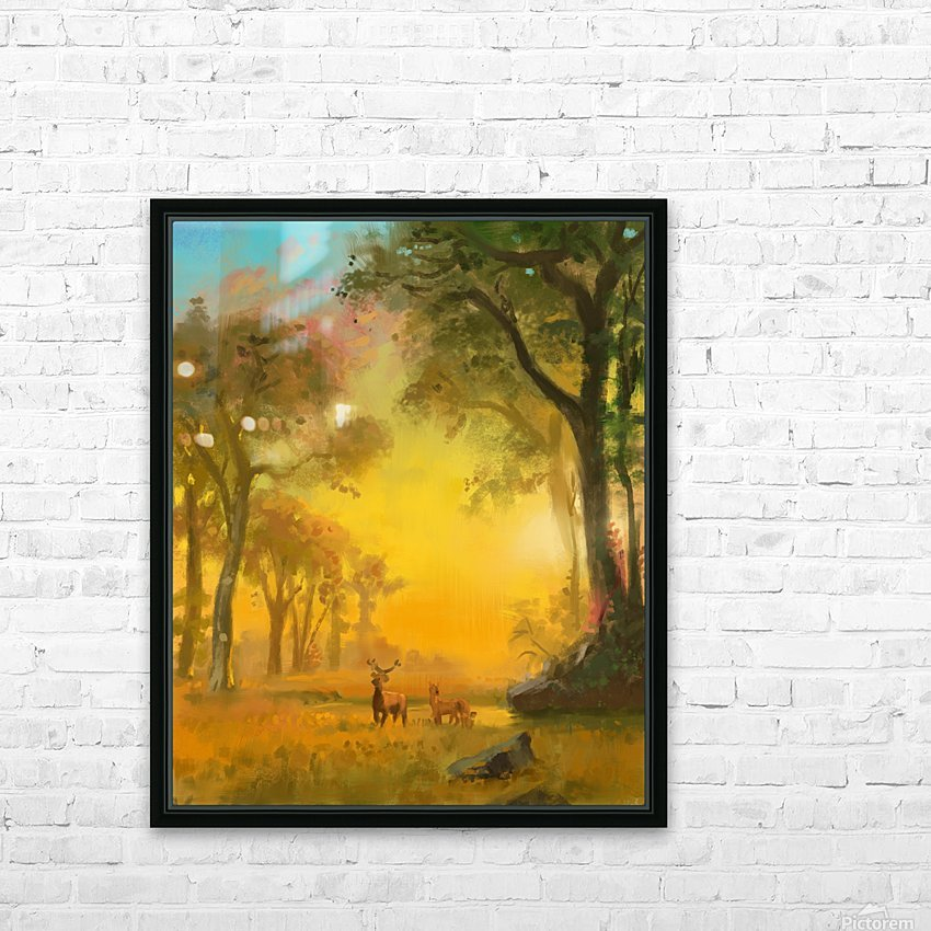 Light In The Forest HD Sublimation Metal print with Decorating Float Frame (BOX)