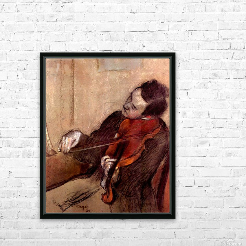 The violinist 1 by Degas HD Sublimation Metal print with Decorating Float Frame (BOX)