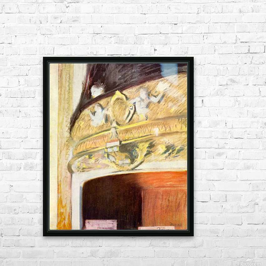 Theater Loge by Degas HD Sublimation Metal print with Decorating Float Frame (BOX)