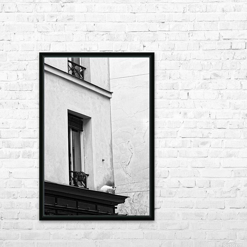 Paris cat HD sublimation métal imprimé avec décoration flotteur cadre (boîte)