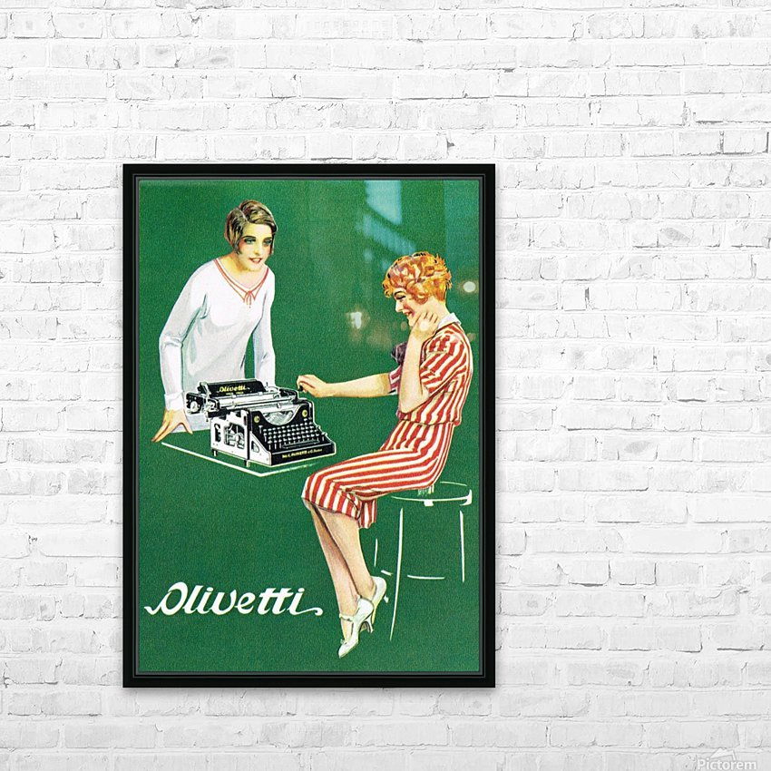 Olivetti poster HD Sublimation Metal print with Decorating Float Frame (BOX)