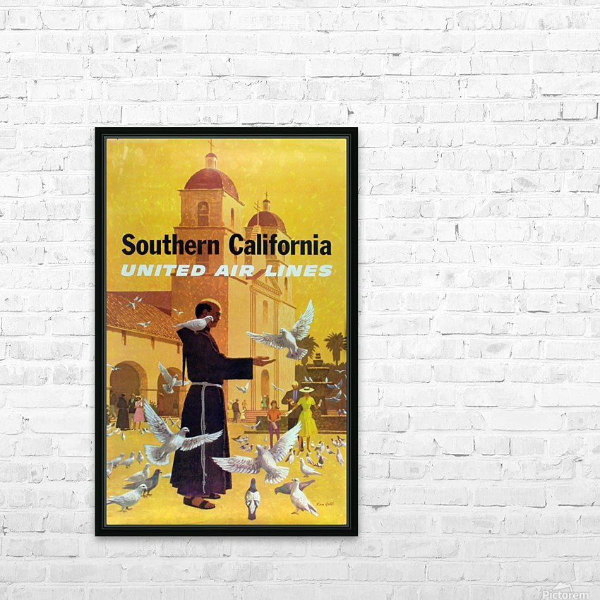 United Air Lines Southern California Monk HD Sublimation Metal print with Decorating Float Frame (BOX)