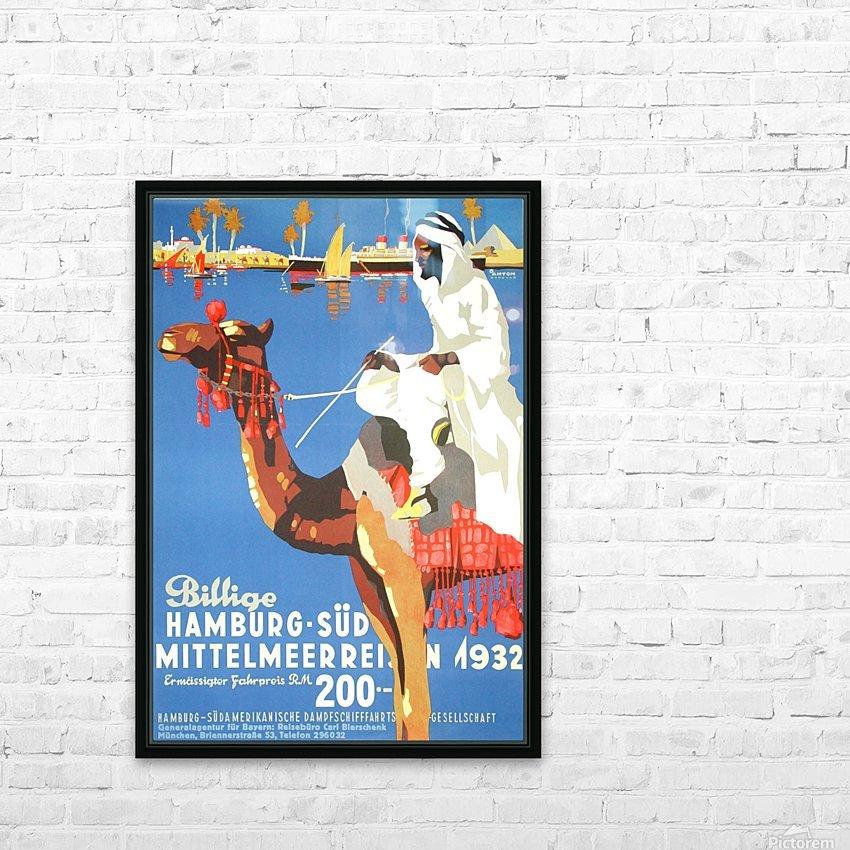Hamburg-Sud Billige Mittelmeerreisen Original Poster HD Sublimation Metal print with Decorating Float Frame (BOX)