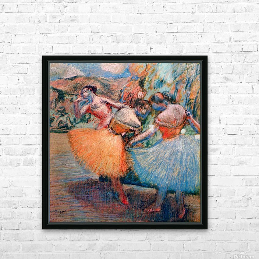 Three dancers 1 by Degas HD Sublimation Metal print with Decorating Float Frame (BOX)