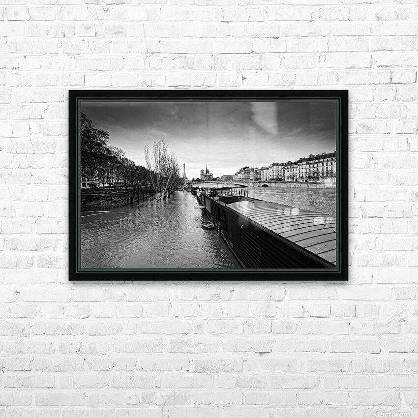 Flood in Paris HD sublimation métal imprimé avec décoration flotteur cadre (boîte)