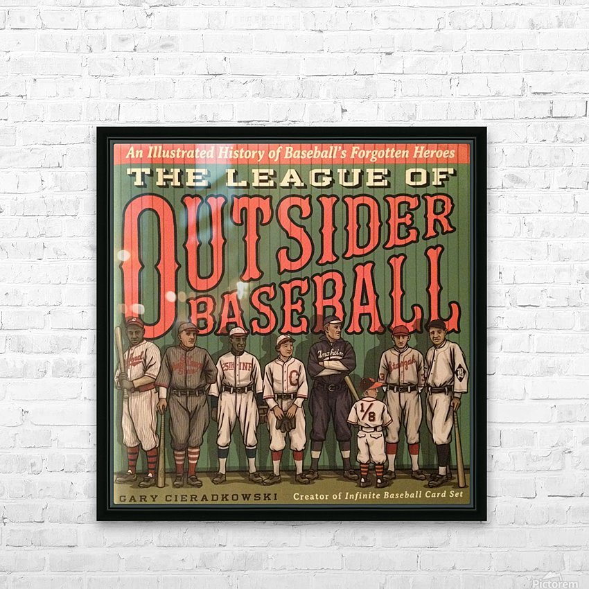 League of Outsider Baseball HD Sublimation Metal print with Decorating Float Frame (BOX)