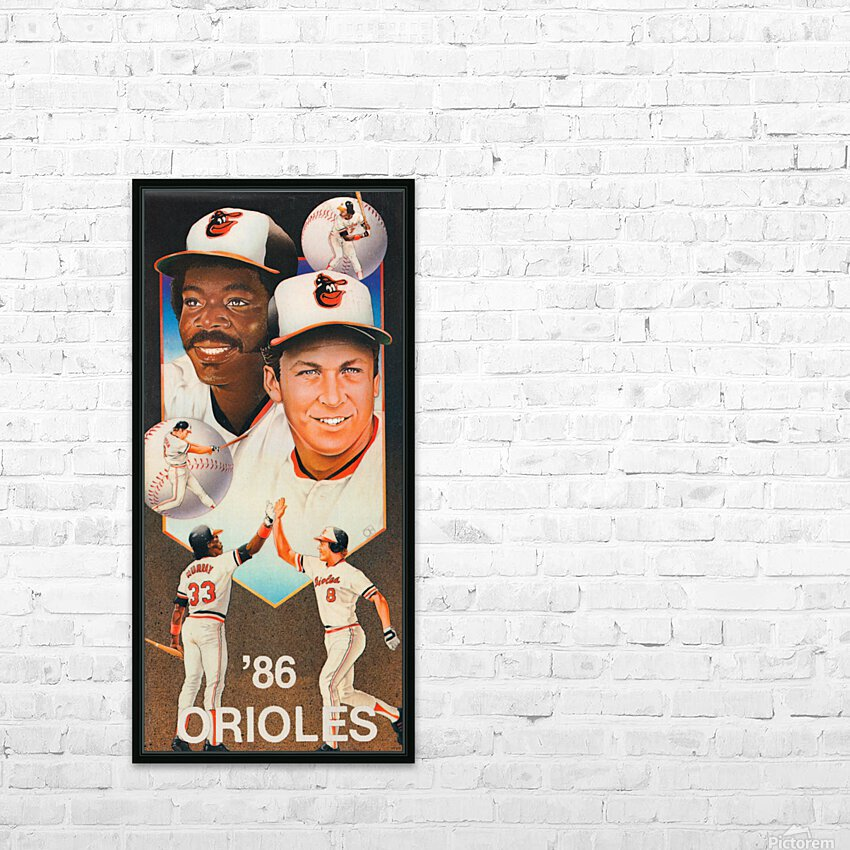 1986 Baltimore Orioles Ripken Murray Poster HD Sublimation Metal print with Decorating Float Frame (BOX)