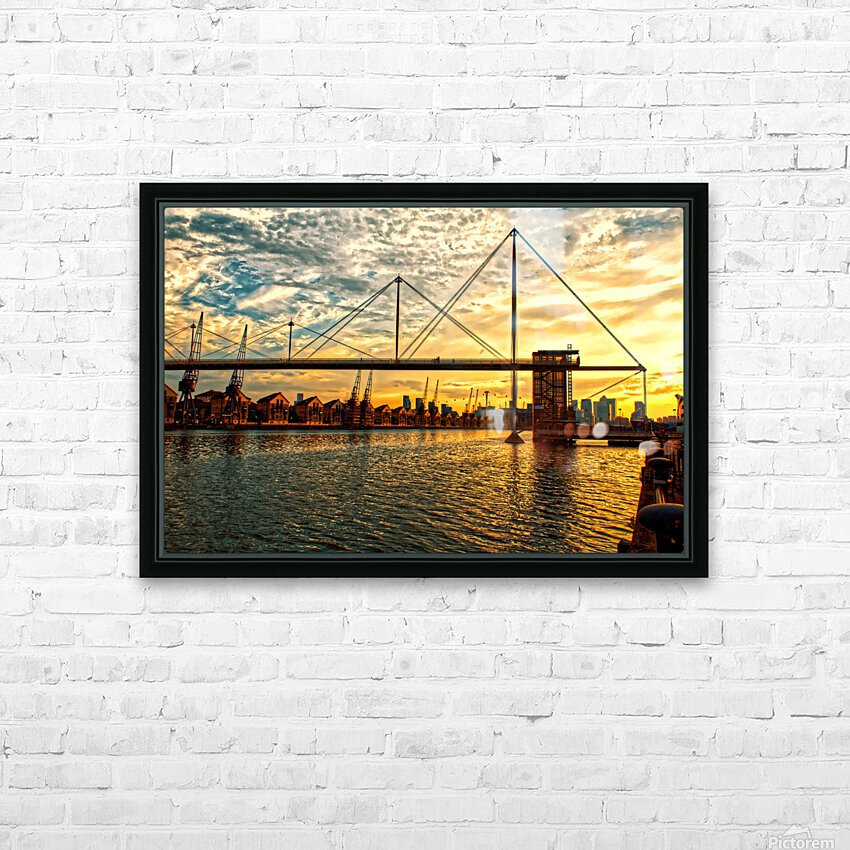 Amazing Sunset over river HD Sublimation Metal print with Decorating Float Frame (BOX)