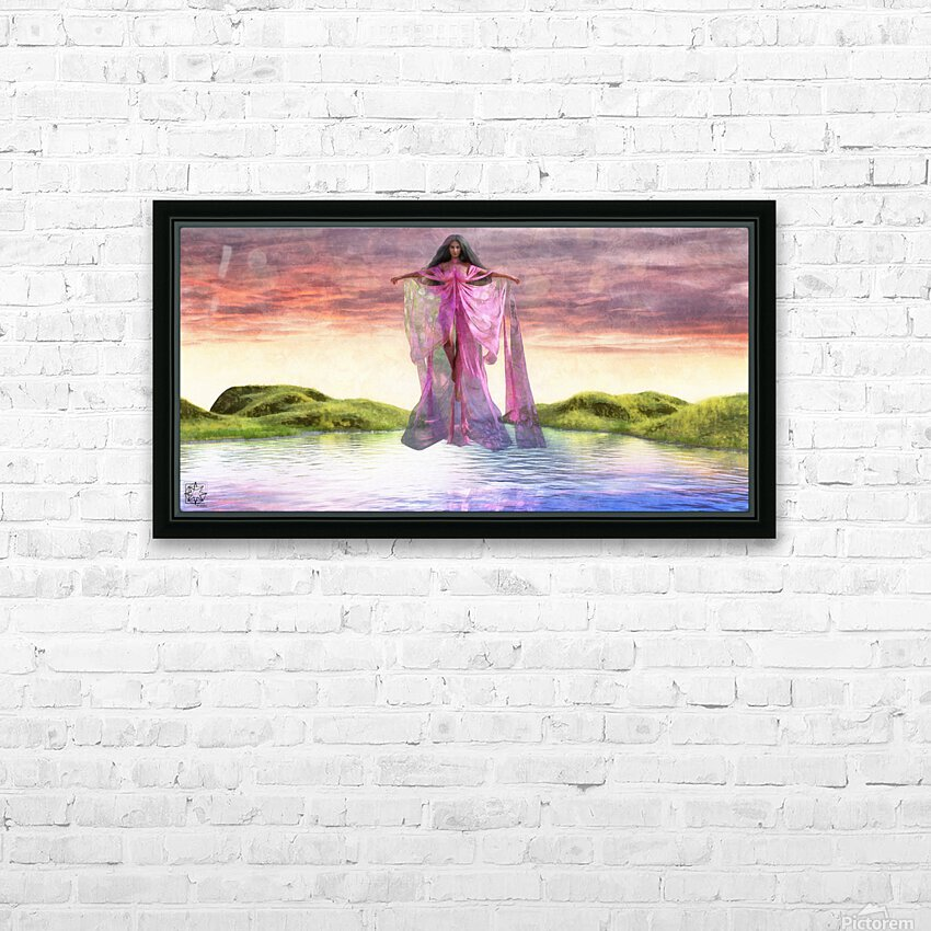 Coming Down HD Sublimation Metal print with Decorating Float Frame (BOX)