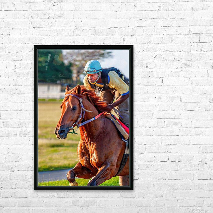 Racehorse11 HD Sublimation Metal print with Decorating Float Frame (BOX)